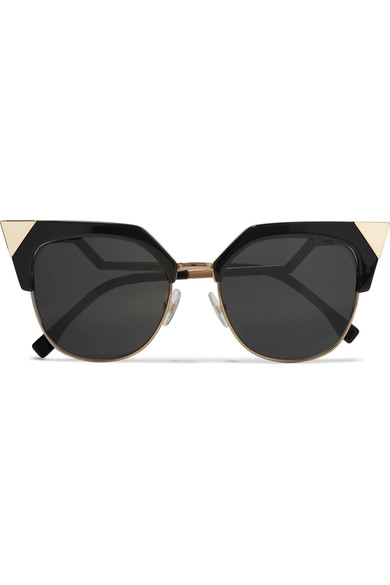 fa481a65d4 Fendi - Iridia cat-eye gold-tone and acetate sunglasses