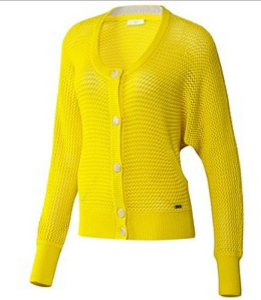 cardigan yellow top yellow