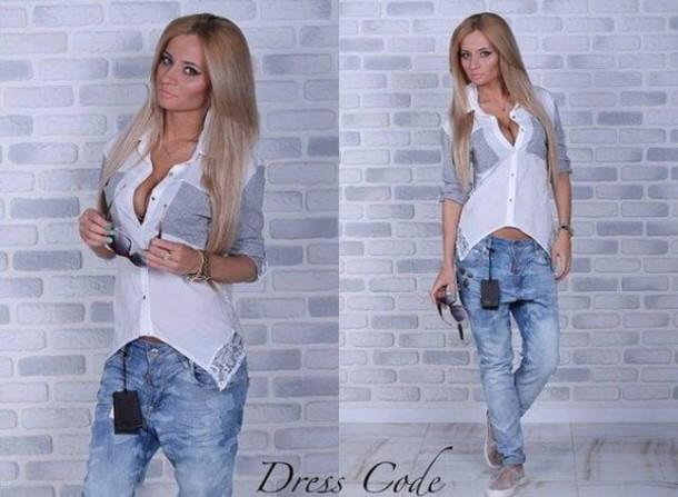 jeans shirt blouse