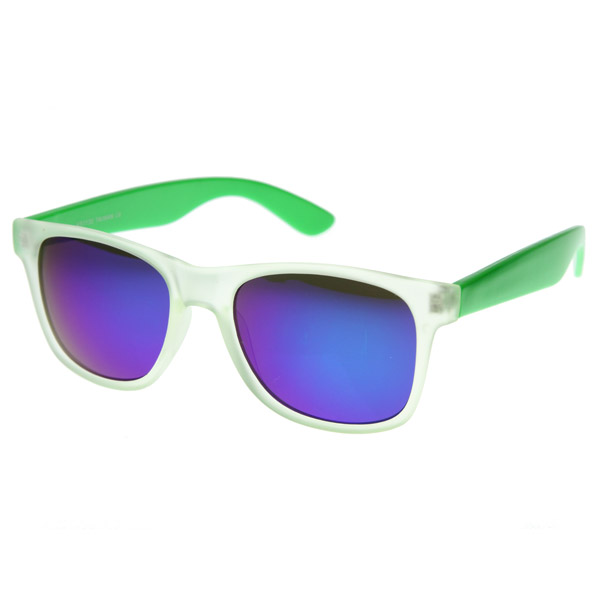 ray ban pas cher ebay  neon fun color frosted 2 tone wayfarers shades sunglasses 8074 green pouch