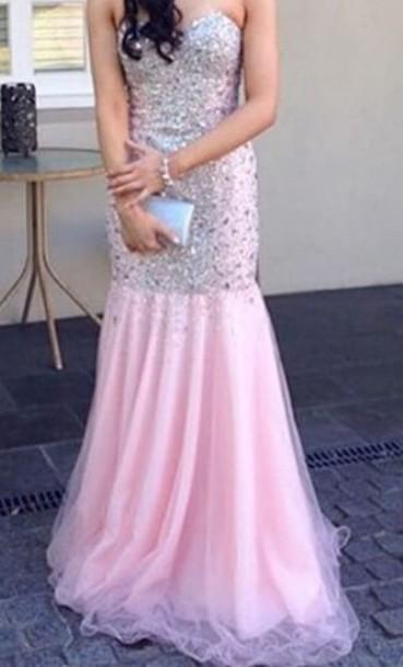 dress pink dress sparkly dress
