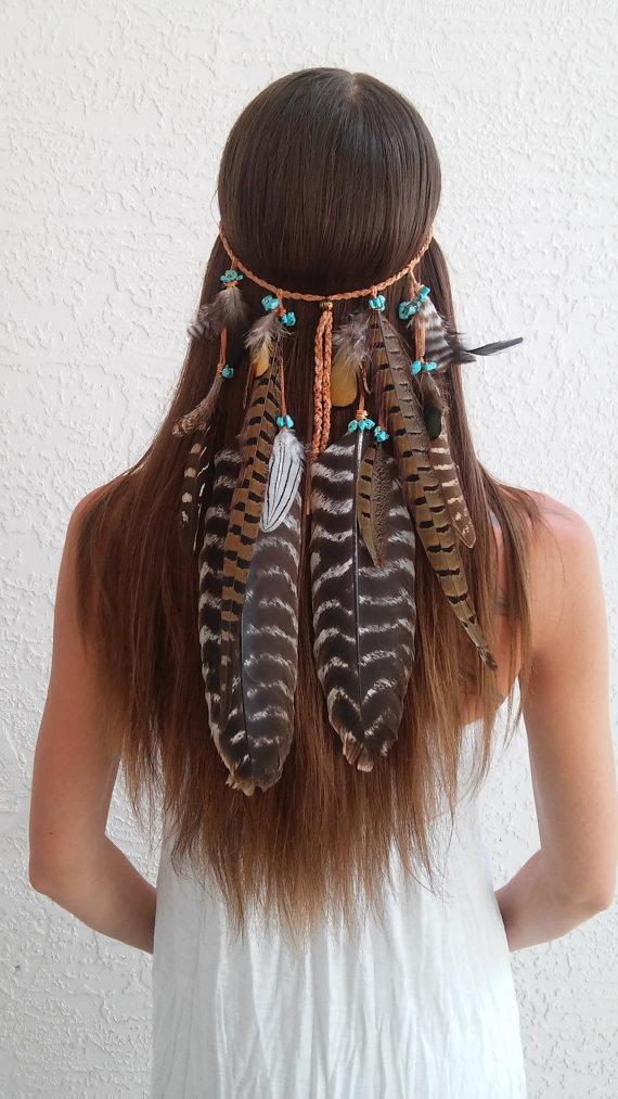 Boho Princess, Feather headband, native american, indian ...
