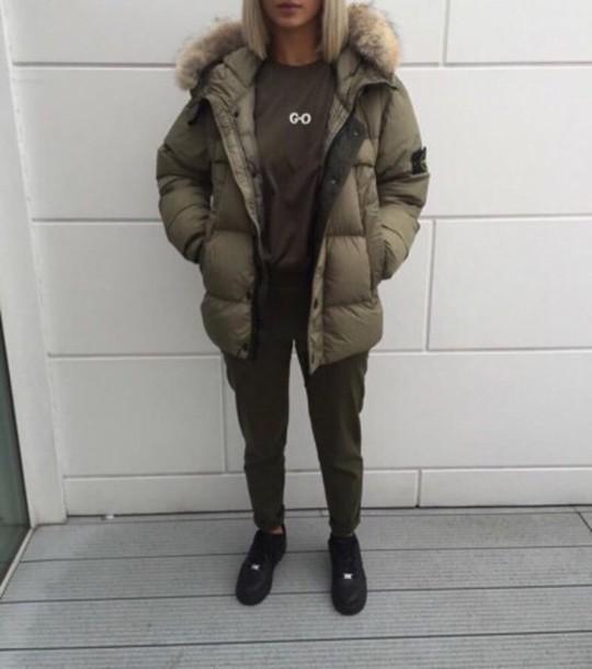 Výsledek obrázku pro puffer jacket tumblr
