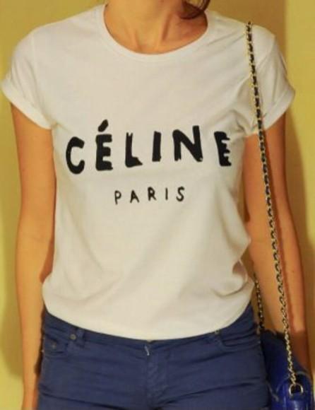 t-shirt shirt celine vogue celine shirt celine t-shirt