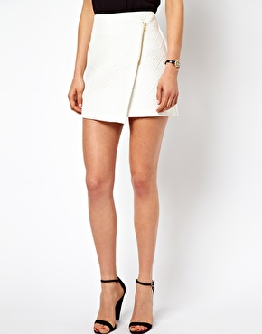 ASOS Mini Skirt with Wrap Detail at ASOS