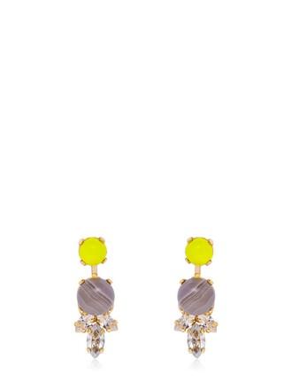 earrings stud earrings yellow grey jewels