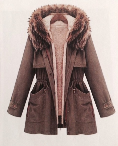 coat winter outfits jacket pelz winter coat winter jacket parka khaki Khaki coat fell beige fur