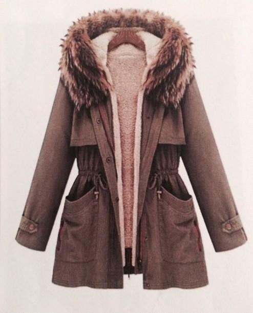 jacket winter outfits pelz coat winter coat winter. Black Bedroom Furniture Sets. Home Design Ideas