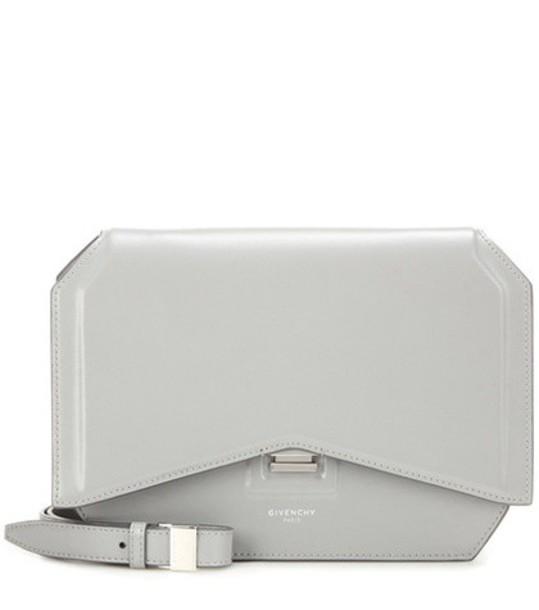 bow bag shoulder bag leather grey