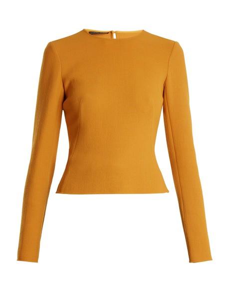 top long urban wool dark yellow