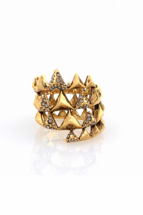 House of Harlow 1960 Pyramid Wrap Ring in Yellow Gold