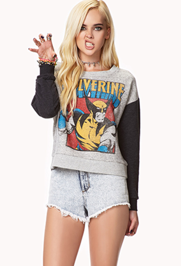 shirt wolverine sweatshirt cropped