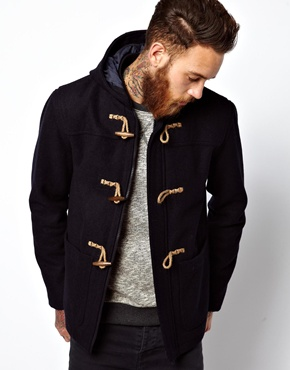 ASOS | ASOS Duffle Coat In Navy at ASOS