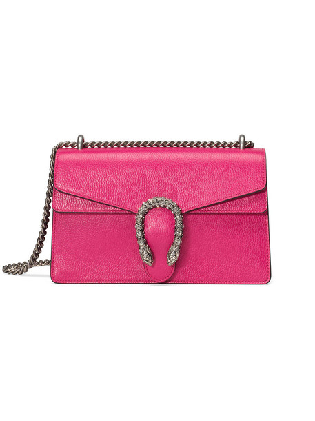 gucci metal women bag shoulder bag leather cotton purple pink