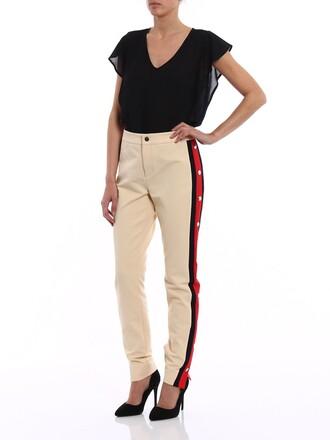 pants cotton cream