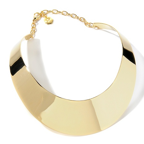 "R.j. graziano ""tres, tres chic"" metal collar 17"" necklace at hsn.com"