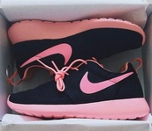shoes,black,pink,nike,nike roshe run,roshe runs,trainers,trainning,trainner,sportswear,cool,roshes,sneakers,nike sneakers,nike running shoes,nike shoes