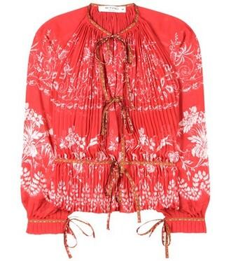 blouse chiffon blouse chiffon red top