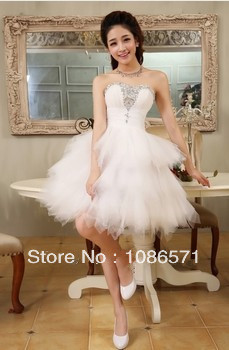 Aliexpress.com : Buy 2014Strapless Tulle Noble elegant PROM dress dress free shipping from Reliable dress korean suppliers on Heart yue wedding dresses
