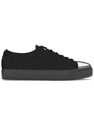 women sneakers leather suede black shoes