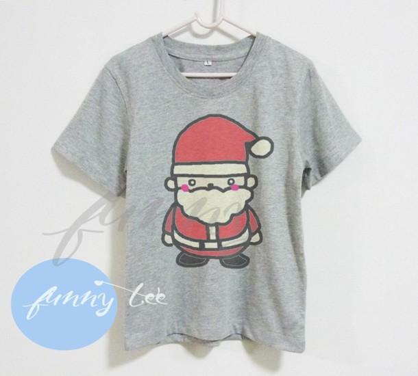 toddler boy toddler girl christmas tshirt santa tshirt santa claus tshirt merry christmas gift for toddler gift ideas gray shirt wheretoget