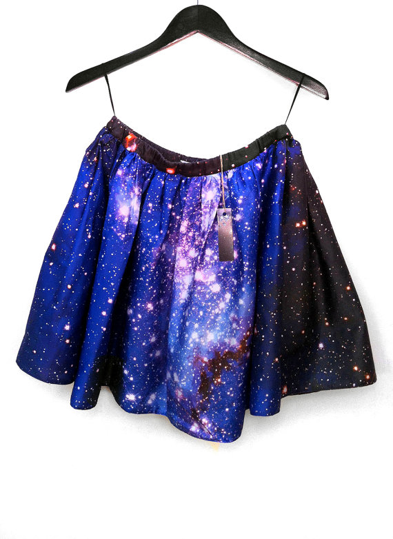 Large magellanic cloud hubble print space skirt by shadowplaynyc