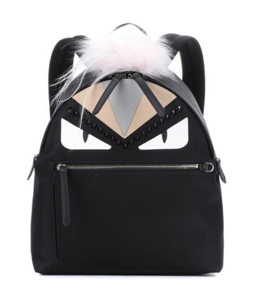 Fendi fur backpack black bag