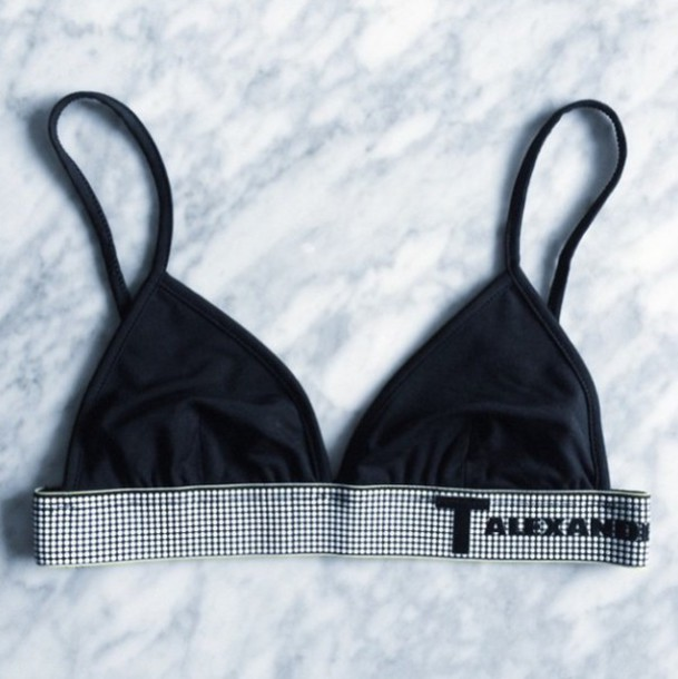 swimwear bikini black t alexander fashion bikini top