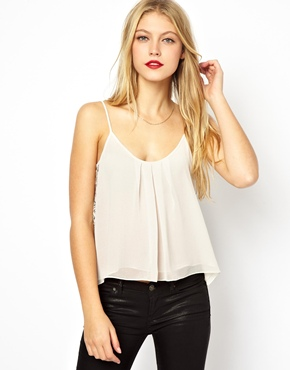 ASOS | ASOS Cami with Contrast Lace Panels at ASOS
