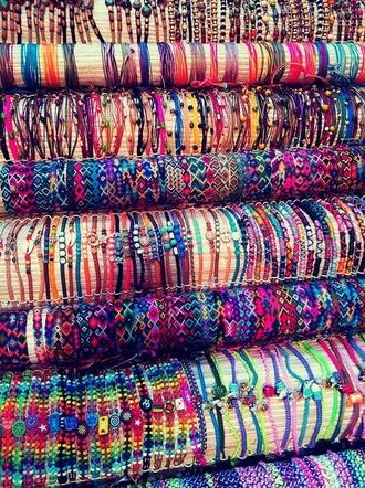 jewels bracelets rope colorful