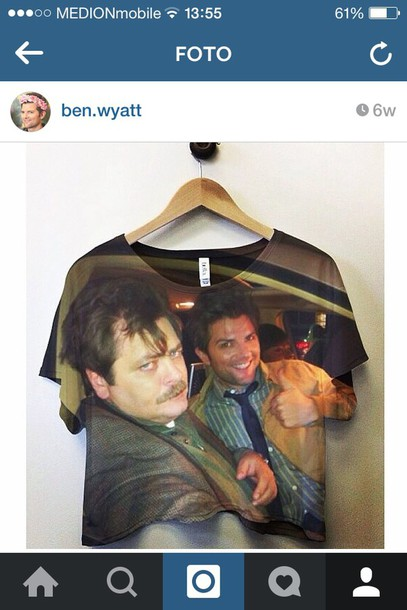 t-shirt parks and rec ben wyatt adam scott ron swanson nick offerman parks parks and recreation