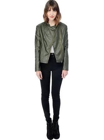 Bb dakota harlet army green jacket