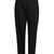 High-rise tapered-leg wool trousers