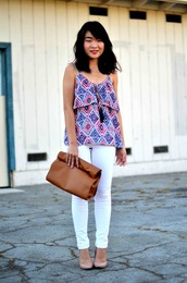daily disguise,top,jeans,bag