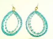 jewels,glass beads,tear drop,handmade,earrings,turquoise,jewelry,sequins