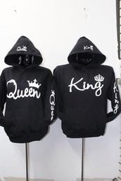jacket,king,queen,matching set,boyfriend,girlfriend