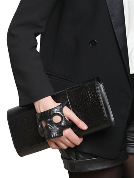 skull bag clutch pochette handbag