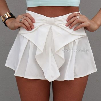 BOW SHORTS , DRESSES, TOPS, BOTTOMS, JACKETS & JUMPERS, ACCESSORIES, 50% OFF SALE, PRE ORDER, NEW ARRIVALS, PLAYSUIT, COLOUR, GIFT VOUCHER,,SHORTS,White Australia, Queensland, Brisbane on Wanelo