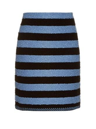skirt striped skirt blue