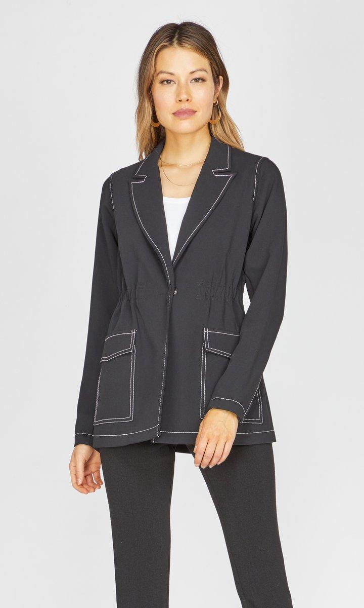 Isa Contrast Stitch Jacket