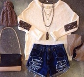 jacket,sparkle,cute,love more,cream,winter sweater,winter outfits