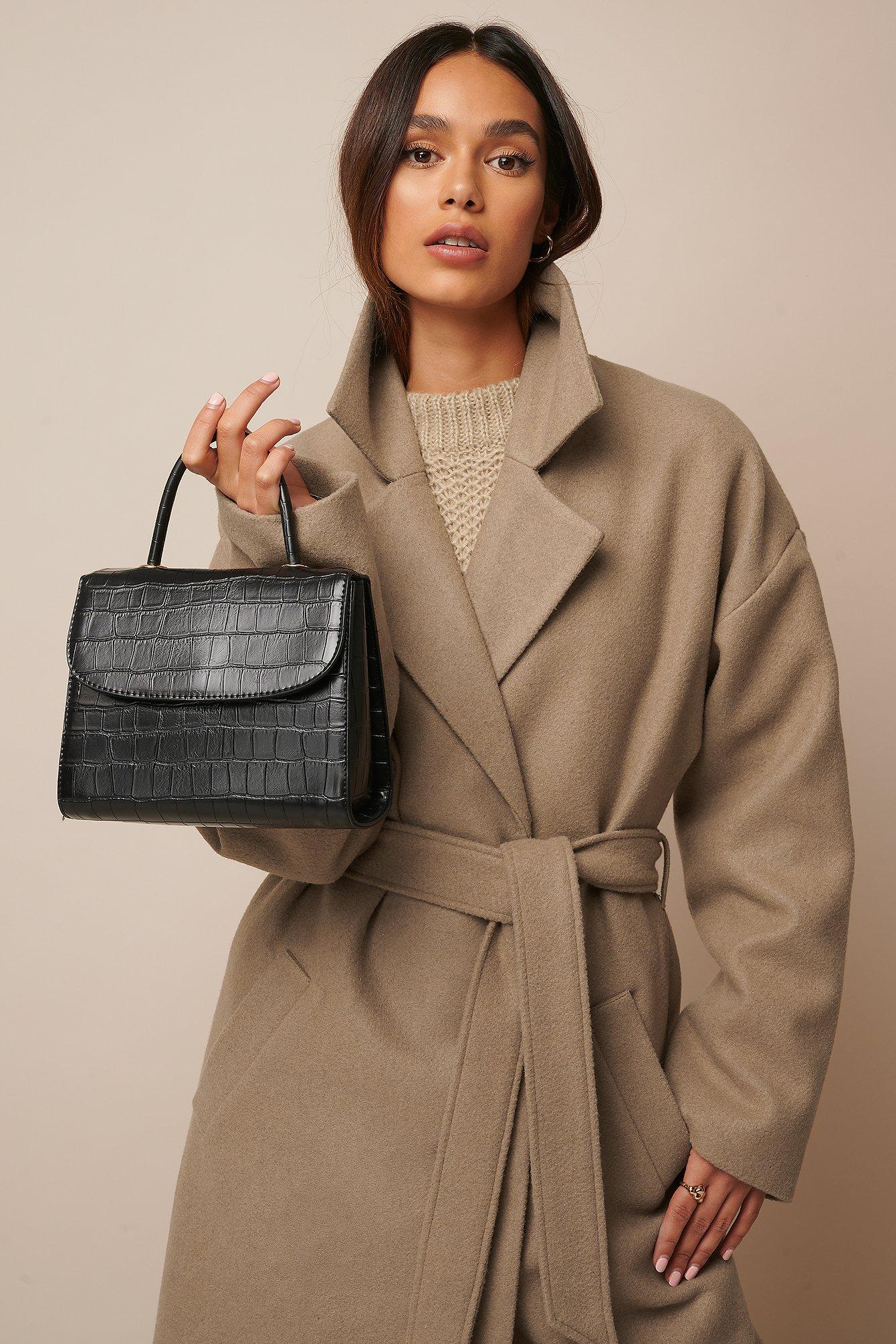 Croco Look Bag Black