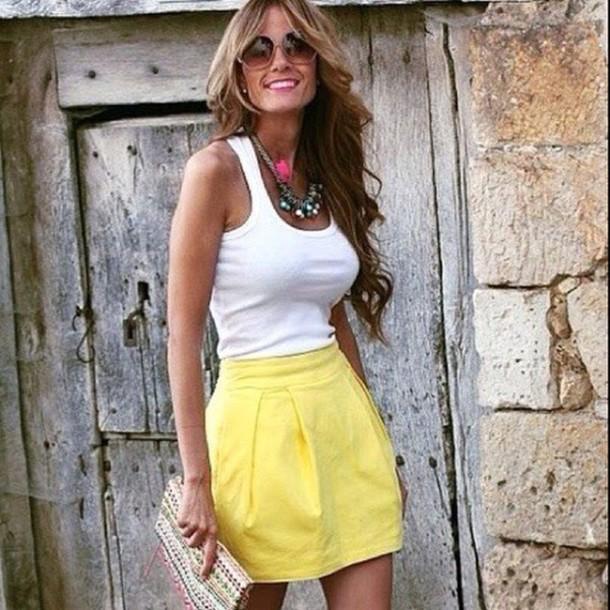 skirt yellow skirt