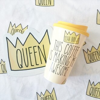 home accessory yeah bunny mug tumbler queen crown coffee