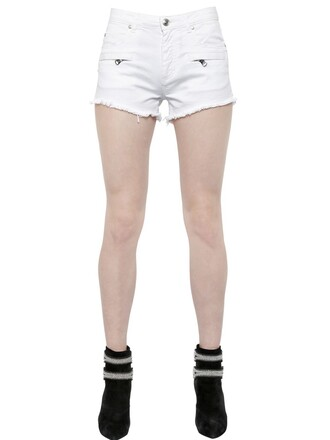 shorts denim shorts denim cotton white