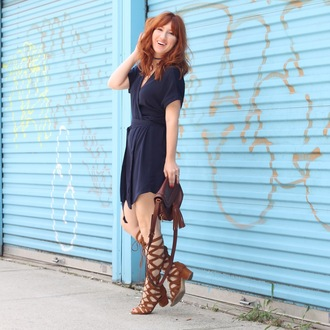 tf diaries blogger dress bag shoes jewels navy dress
