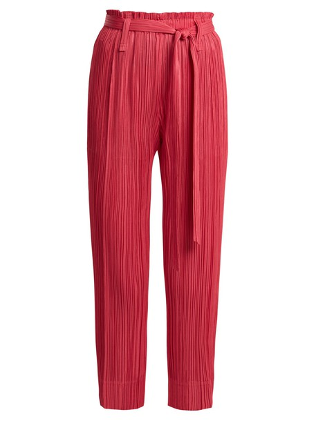 PLEATS PLEASE ISSEY MIYAKE pleated pink pants