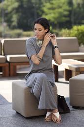 grey dress,dress,t-shirt dress,grey,cotton,maxi