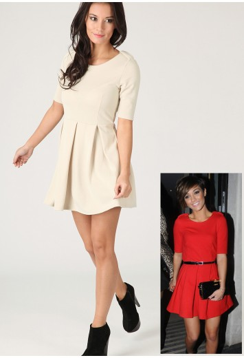 Carol Tailored Pleat Dress