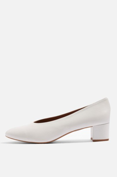 Topshop heel shoes white